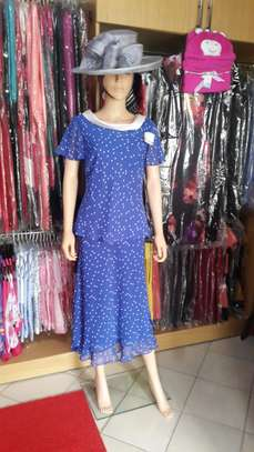 Royal Blue Spotted Dress